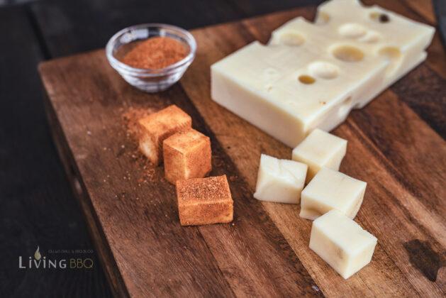 Käse in Magic Dust wälzen