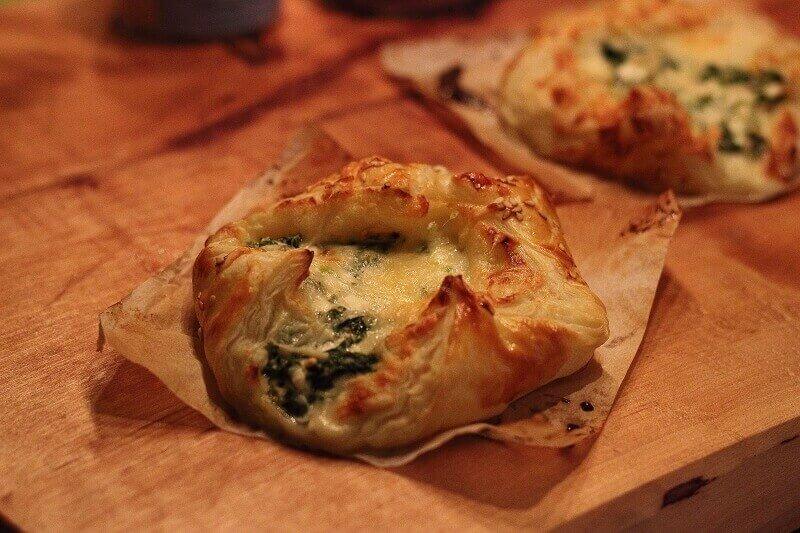 LivingBBQ Blätterteig Spinat Käse Finish