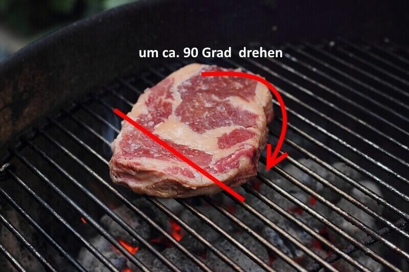 das perfekte Steak 45 Grad drehen