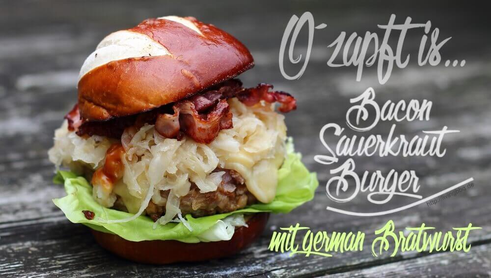 Bacon Sauerkraut Burger