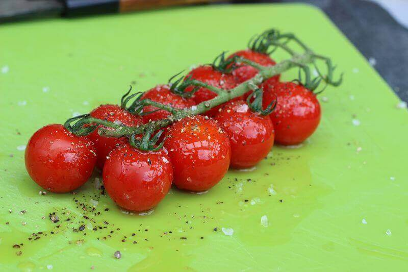 fruchtig würzige Rispentomaten vom Grill