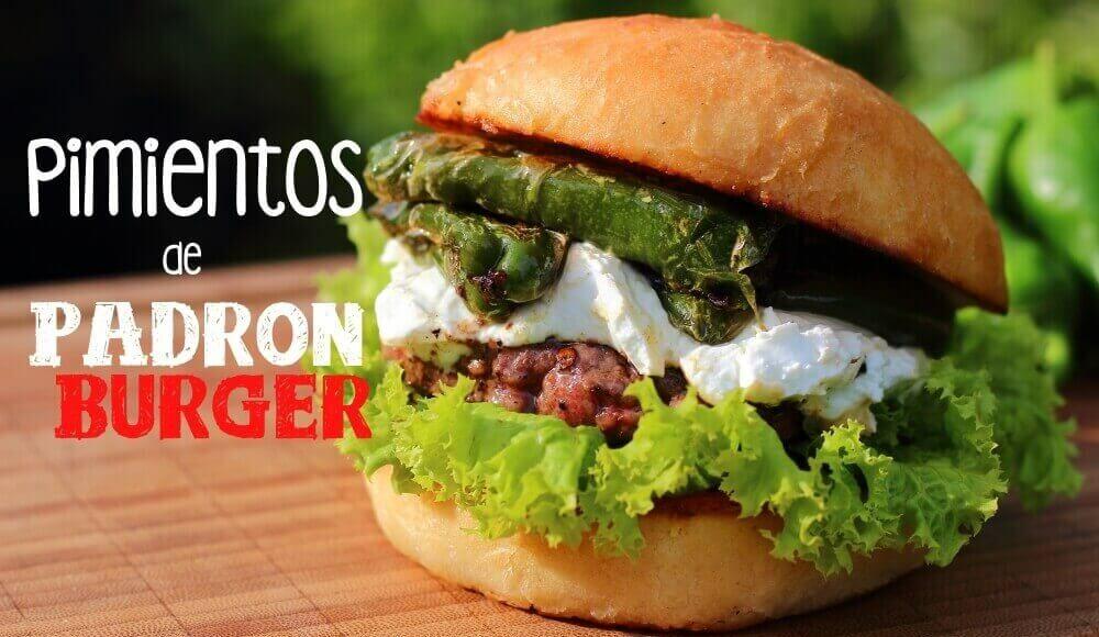 Pimientos de Padron Burger mit Ziegenfrischkäse