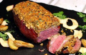 Dry Aged Roastbeef Apfel-Senf-Kruste