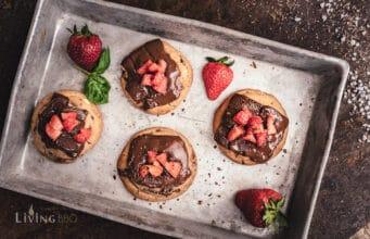 Grill Cookies mit Erdbeeren