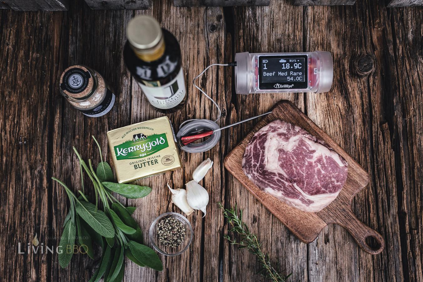 Zutaten Salbeibutter mit Steak