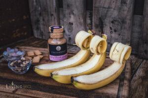 gegrillte Banane begradigen