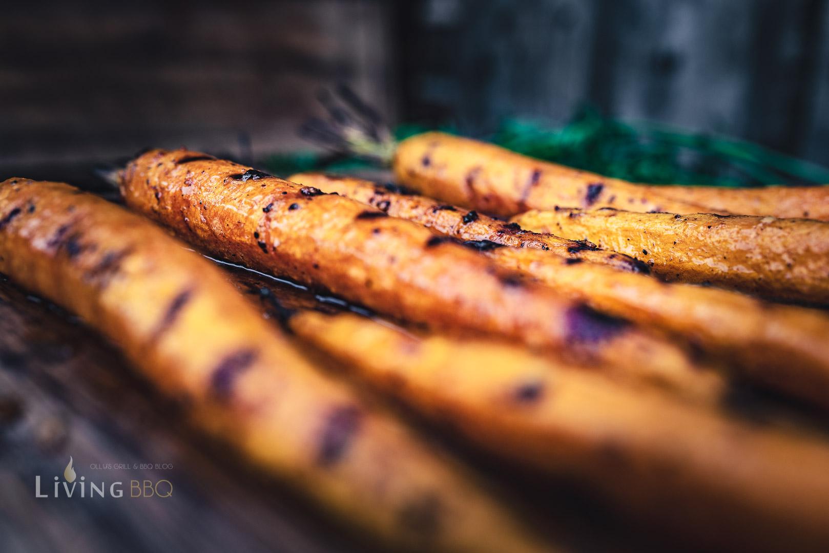 gegrillte Karotten aus dem Smoker