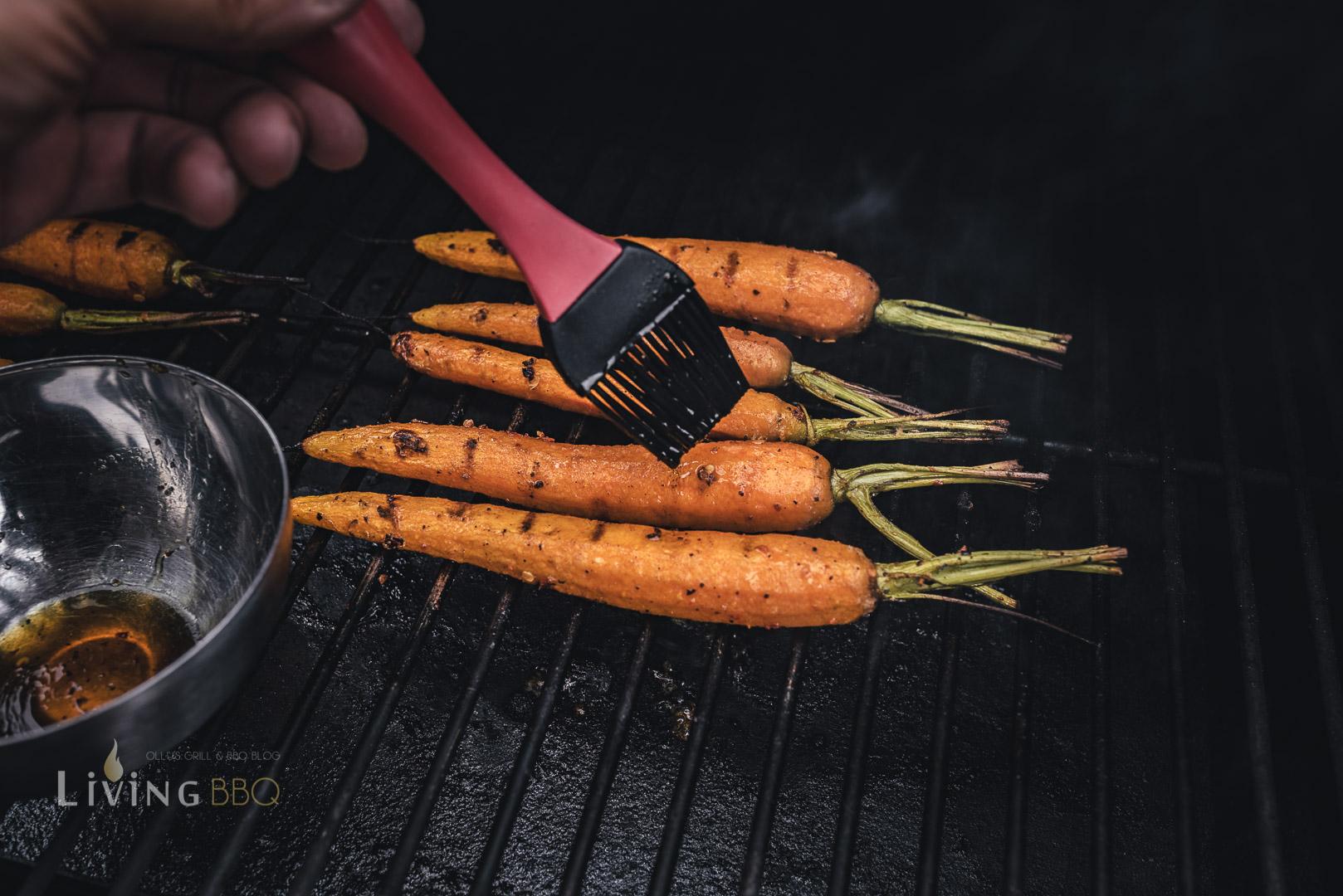 Karamellisierte Karotten vom Grill
