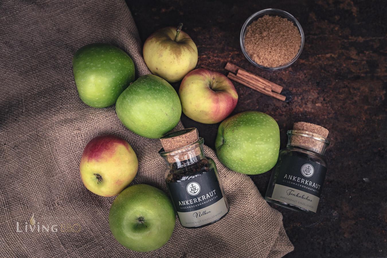 Zutaten für Apfelbutter